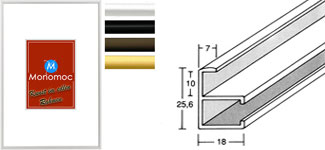 Alu Bilderrahmen M10 Normalglas 35x50