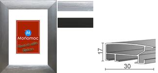 Alu Bilderrahmen M13 Normalglas 13x18