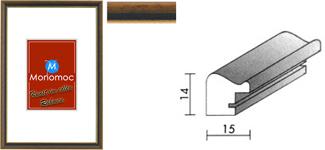 Holz Bilderrahmen M22 Antireflexglas 24x30
