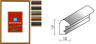 Holz Bilderrahmen M23 Antireflexglas 13x18