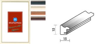 Holz Bilderrahmen M26 Antireflexglas 13x18