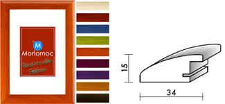 Holz Bilderrahmen M29 Antireflexglas DIN A1