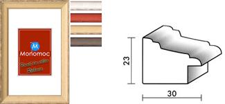 Holz Bilderrahmen M36 Antireflexglas 40x40
