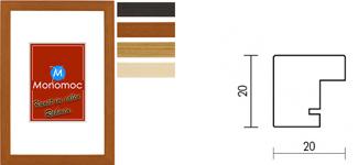 Holz Bilderrahmen M51 Normalglas 7x10