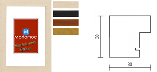 Holz Bilderrahmen M52 für Keilrahmen bis 17mm 7x10