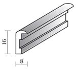 Alurahmenprofil M11 8mm breit 9mm hoch