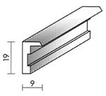 Alurahmenprofil M12 9mm breit 19mm hoch