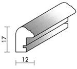 Holzrahmenprofil M23 12mm breit 17mm hoch
