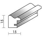 Holzrahmenprofil M25 15mm breit 15mm hoch