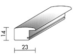 Holzrahmenprofil M34 23mm breit 14mm hoch
