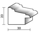 Holzrahmenprofil M36 30mm breit 23mm hoch