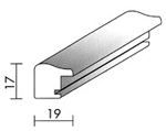 Holzrahmenprofil M40 19mm breit 17mm hoch