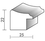 Holzrahmenprofil M41 25mm breit 22mm hoch
