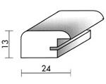 Holzrahmenprofil M43 24mm breit 13mm hoch