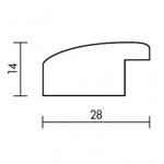 Holzrahmenprofil M48 28mm breit 14mm hoch