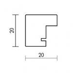 Holzrahmenprofil M51 20mm breit 20mm hoch