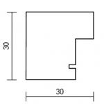 Holzrahmenprofil M52 30mm breit 30mm hoch