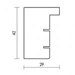 Holzrahmenprofil M55 29mm breit 42mm hoch