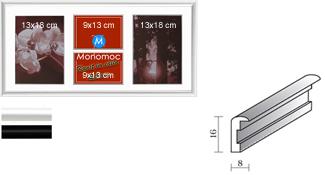 Galerierahmen Aluminium M11 25x50 PP2 2x 9x13 2x 13x18