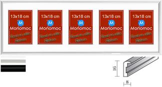 Galerierahmen Aluminium M11 25x80 PP6 5x 13x18