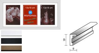 Galerierahmen Aluminium M12 25x50 PP4 3x 13x18