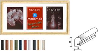 Galerierahmen Holz M20 25x50 PP4 3x 13x18