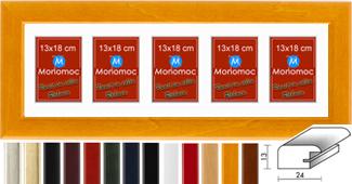 Galerierahmen Holz M43 25x80 PP6 5x 13x18